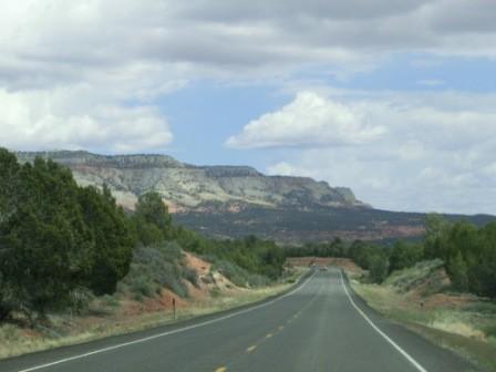 Fahrt vom Zion National Park in den Bryce Canyon National Park