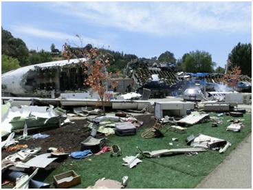 Flugzeugabsturz in den Studios