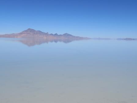 Bonneville Salt Flats - leider überflutet