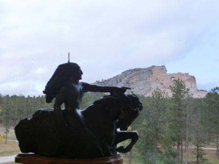 """So soll die Skulptur """"Crazy Horse"""" einmal werden"""
