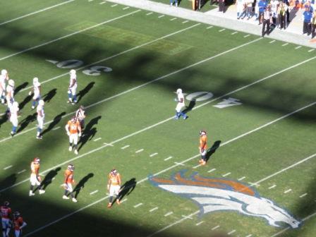 Footballspiel Denver Broncos