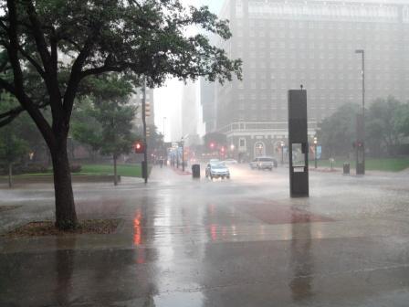 Innenstadt unter Wasser
