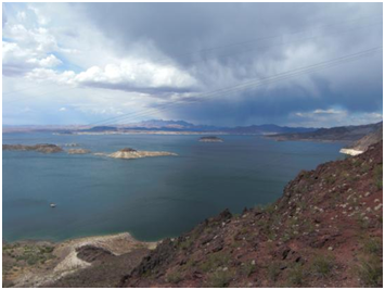 geteilter Himmel am Lake Mead