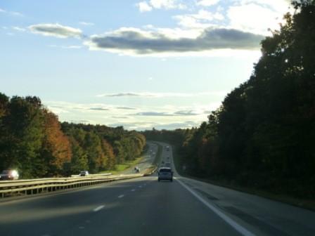 Fahrt an der Ostküste auf dem Pacific Coast Highway # 1