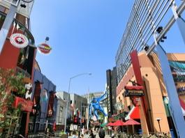 Weg zu den Universal Studios