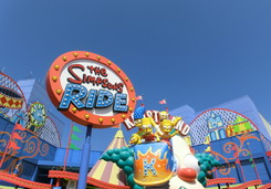 Simpsons - The Ride in den Universal Studios L.A.