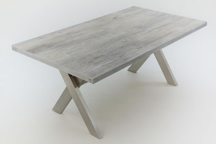 Holztisch Grau