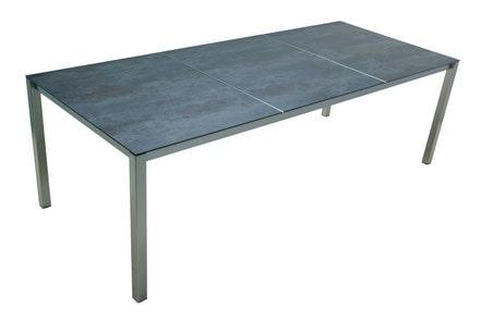 Tisch Edelstahl Keramik Grau