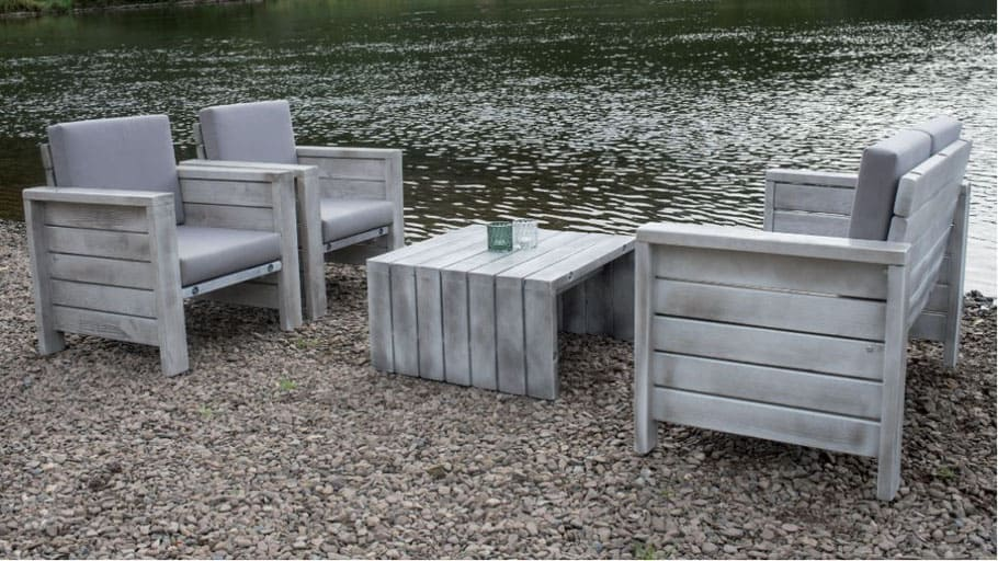 Lounge Gruppe Outdoor Holz