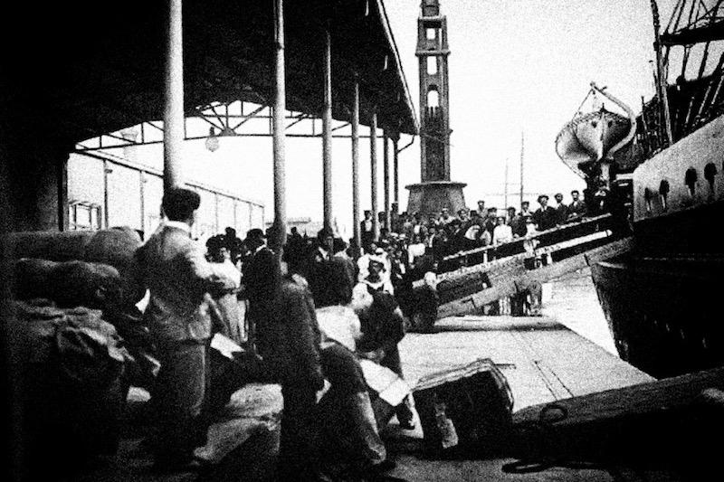 Буэнос-Айрес, 1912. Прибытие мигрантов.