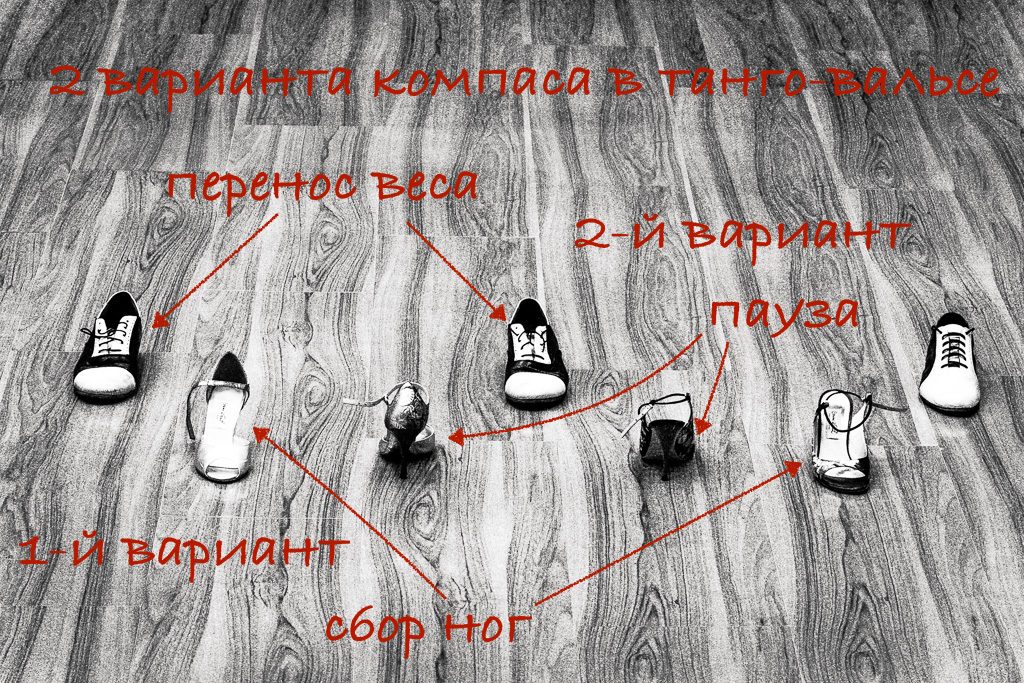 Базовая схема компаса для танго-вальса