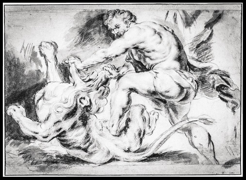Рубенс. Самсон, раздирающий пасть льва (эскиз)