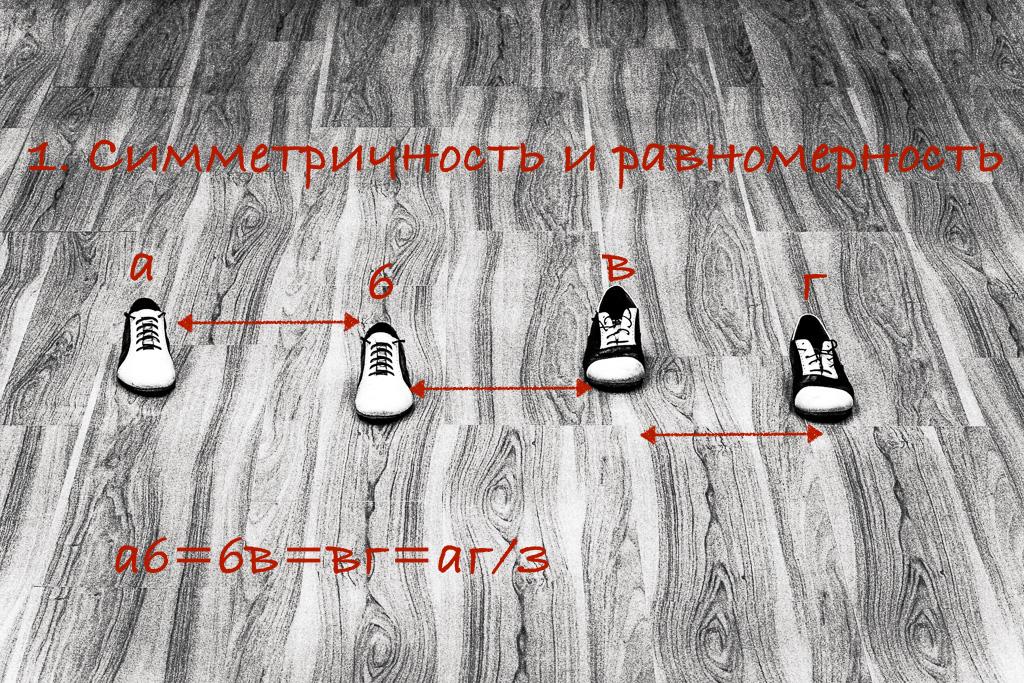Время (расстояние) между долями одинаковое
