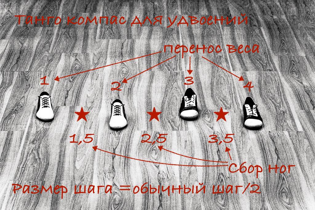 """Схема компаса для """"удвоения"""""""