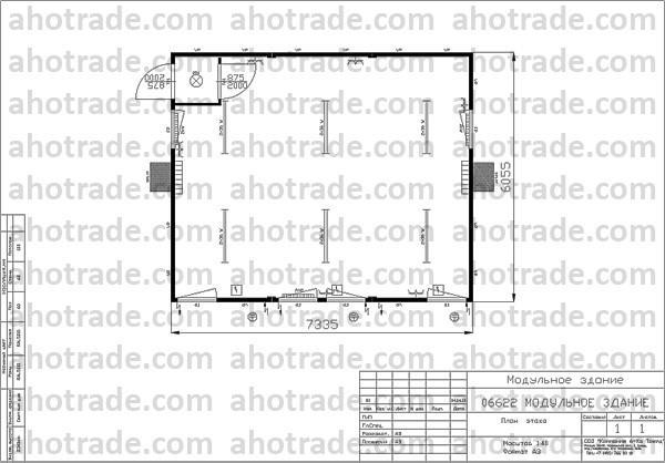 Схема, планировка модульного здания