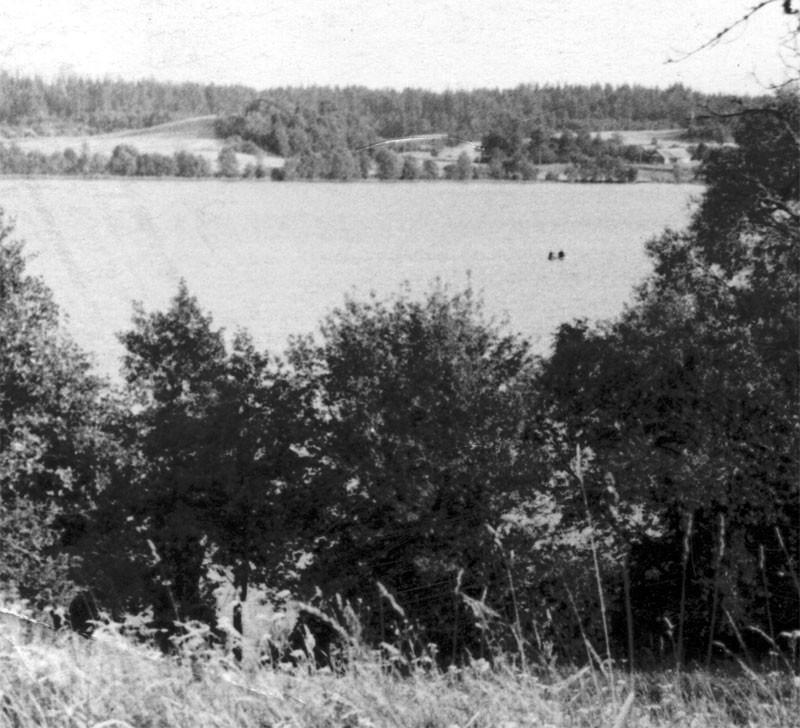 Вид на Кицковское озеро с церковной горы. Фото 1960-х гг. Леонида Терентьевича Перепеча