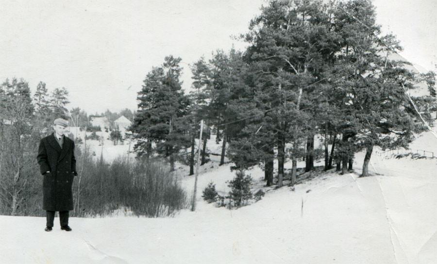 Вид на Кицково. Фото 1958г. Л.Т.Перепеча