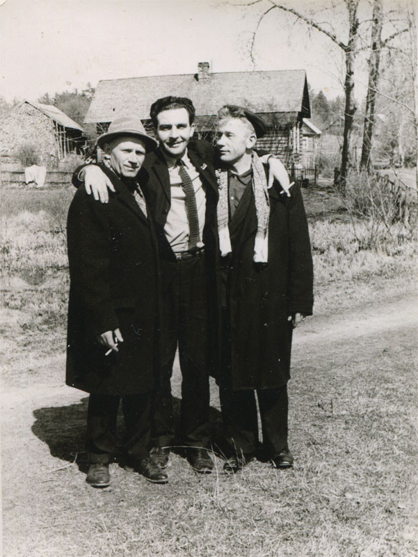 На фоне Кицково. Фото 1950-х гг.