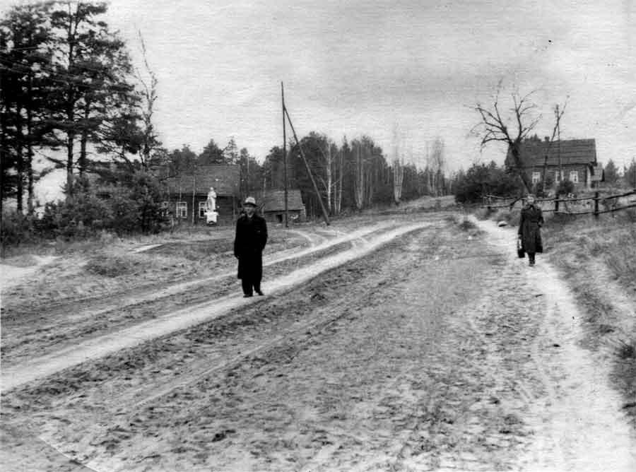 Вид на памятник. Фото 1958г. Леонида Терентьевича Перепеча