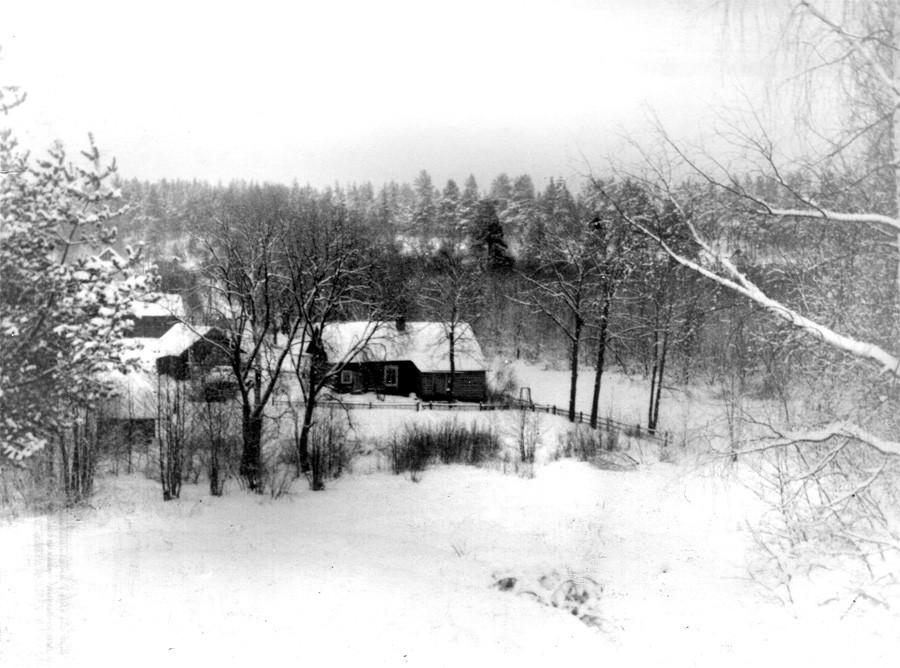 Вид на дом Перепечей. Фото 1960-х гг. Леонида Терентьевича Перепеча
