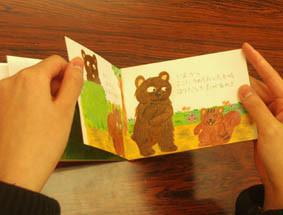 絵本塾課題、小さな絵本の製本過程(本文まとめ)