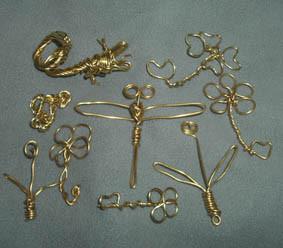 真鍮針金細工 遊びで作った小物