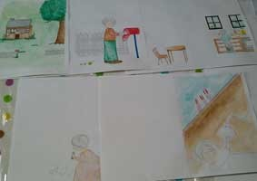 1冊の絵本を作ってみるコースの画像
