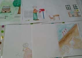 初めての絵本原画描きの画像