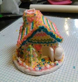 シュガークラフトでお菓子の家を作った画像