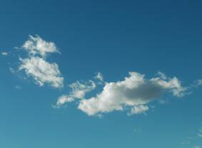 トナカイとサンタの雲
