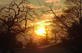 今日の夕日の画像