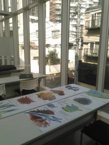ab-絵本創作塾渋谷教室での授業風景