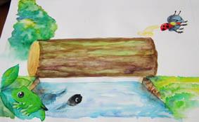 保育士で働きながらも、描いた絵本の原画