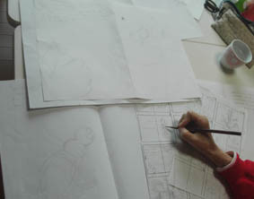 ab-絵本創作塾の創作研究コースの授業風景の画像