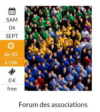 Forum des associations le 4 septembre 2021 à Clairvaux-Les-Lacs