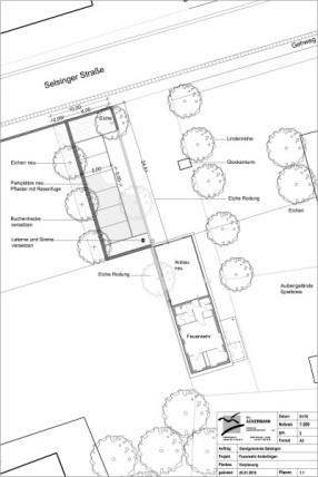 Vorplanung Außenanlage im Bereich der Feuerwehr