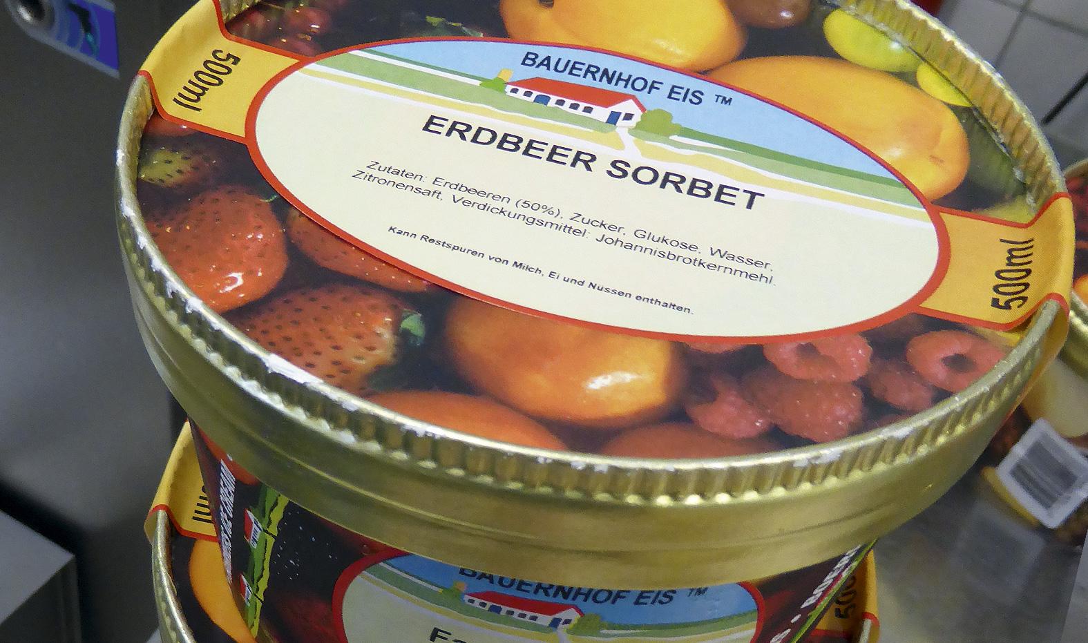 Verkaufsverpackung Bauernhof-Eis Ettenbüttel