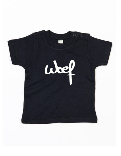Baby T-shirt 'Woef'