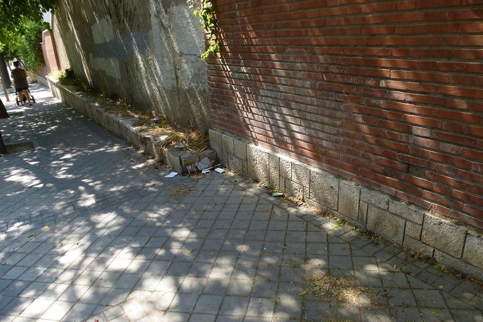 Suciedad en la Calle Titanio. Tomás Alonso.