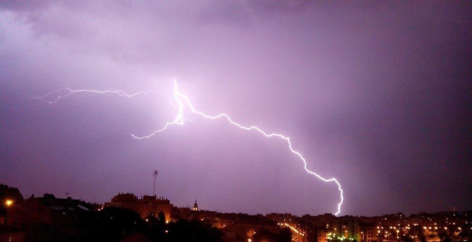 La tormenta del 2 de julio por la noche. Raúl García Ugarte