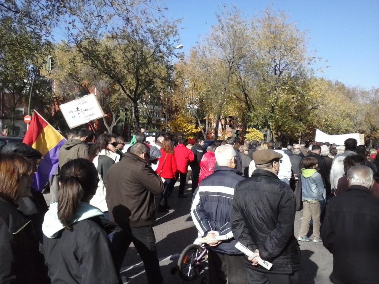 Noviembre 2012. Huelga General en las calles de Vicálvaro.