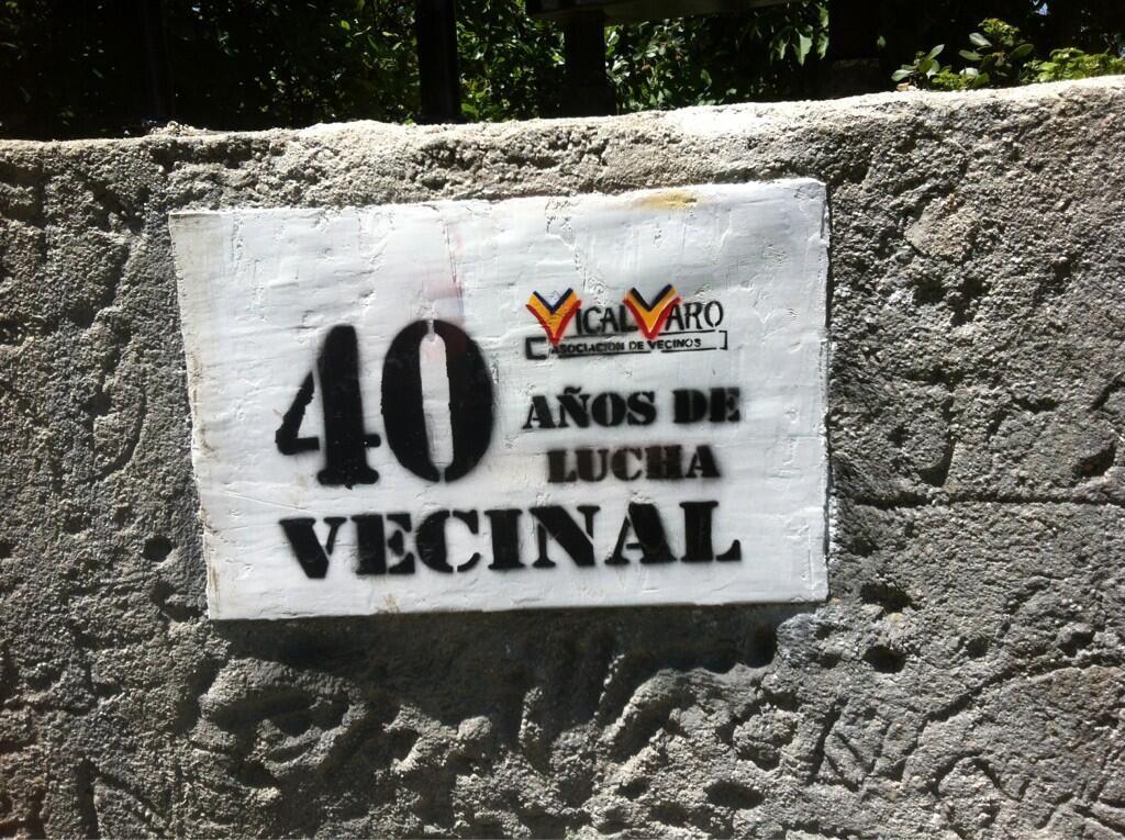 Conmemoración del 40º aniversario de la Asociación de Vecinos (Imagen: Twitter @ccionKombativa)