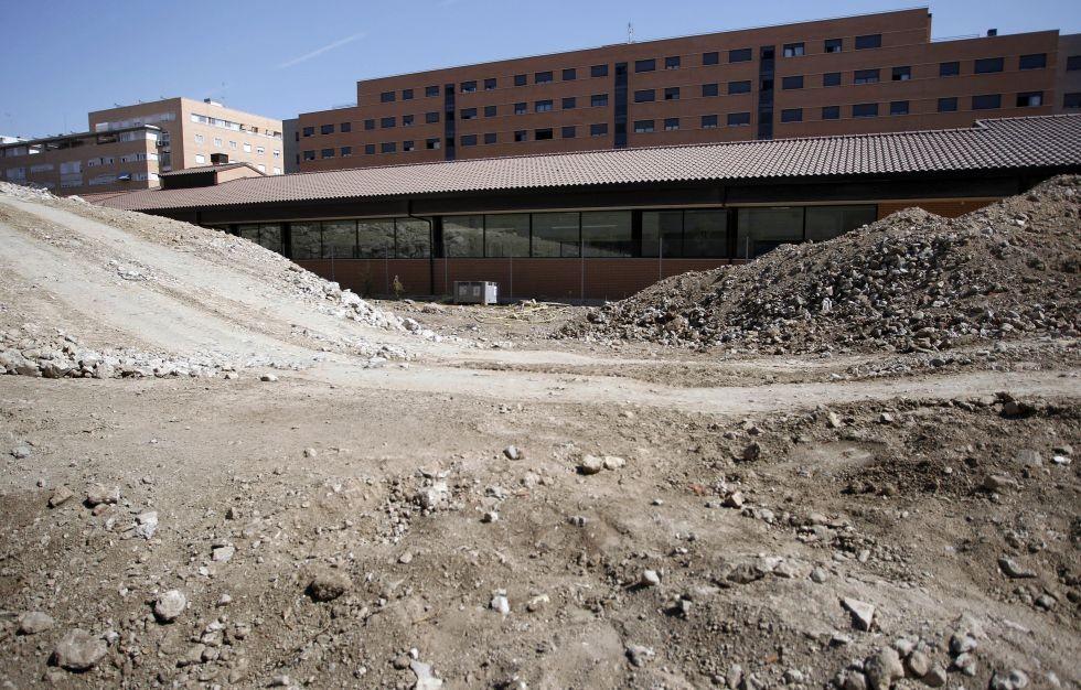 Septiembre 2012. El curso comienza con las obras en marcha en el colegio Carmen Laforet.