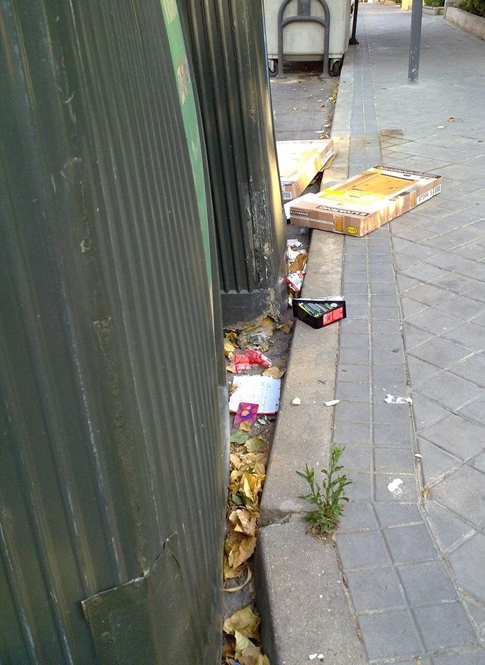Suciedad en las calles. Teresa López.