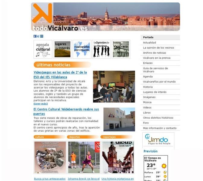 Septiembre 2011. todoVicálvaro.es estrena nueva imagen