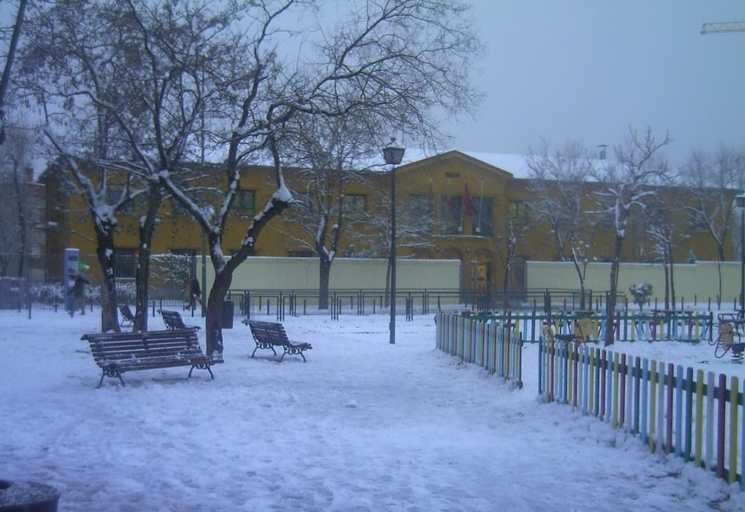 Enero 2009. Una buena nevada cayó en 2009 sobre Vicálvaro