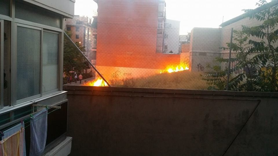 Incendio en la calle Los Gallegos (Imagen: Tomasz Wisniewski)