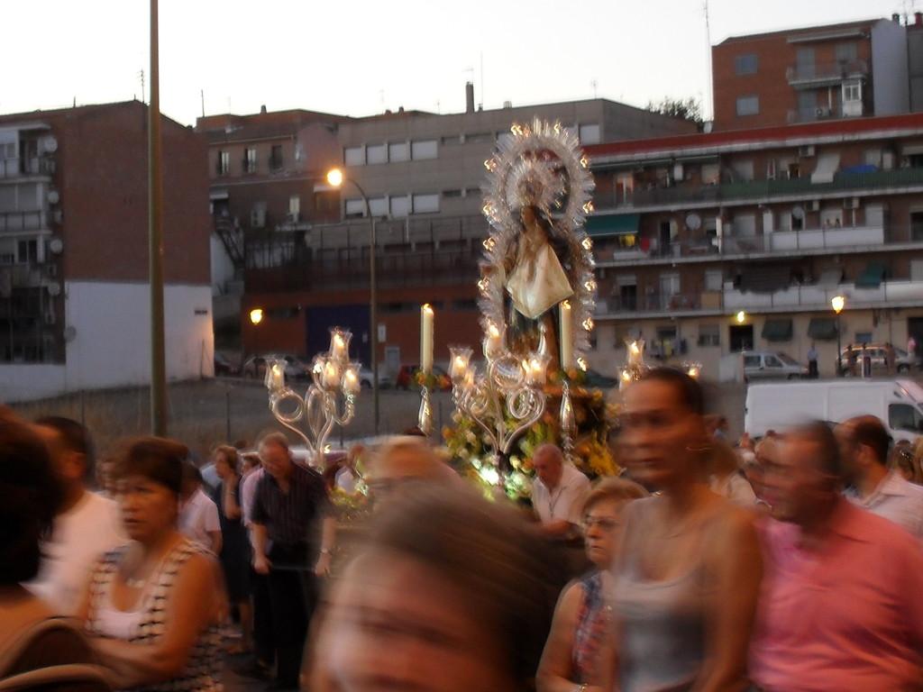 Procesión de la patrona. Imagen: todoVicálvaro.es