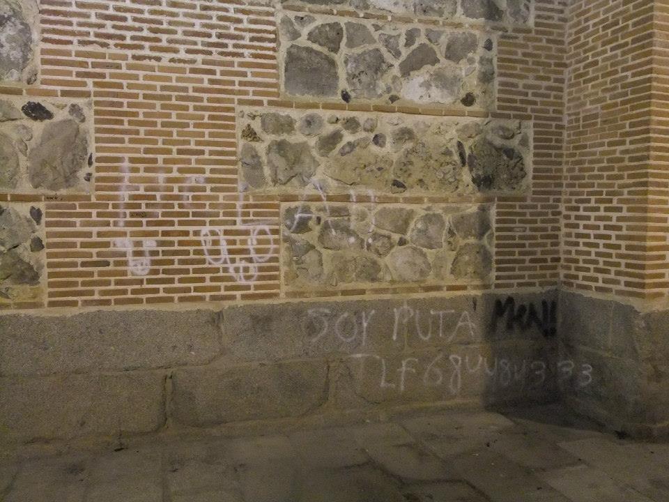 Pintadas en el edificio de la iglesia de la Antigua y alrededores (Vicus Albus)