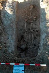 Una de las tumbas halladas (imagen: madridiario)